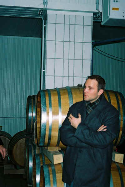 Rainer Christ, winemaker of Weingut Christ in Vienna tells us about the unseasonably warm weather © AJ Stevenson